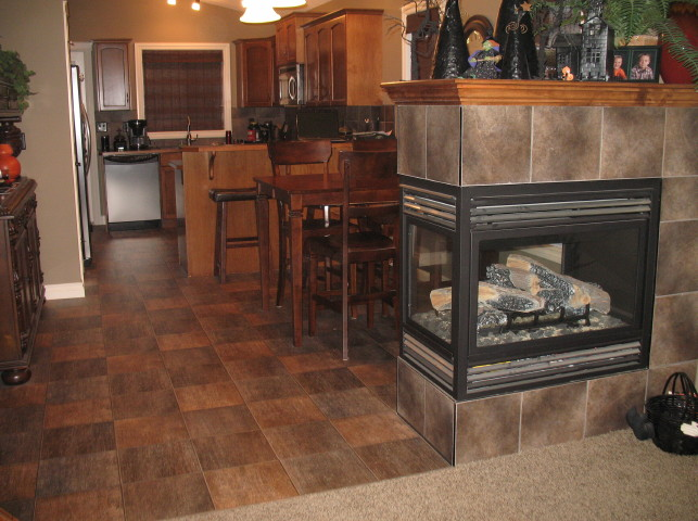An example of one of our flooring jobs in Central Alberta. We offer a huge selection for you to choose from, and will help you mix and match to get the perfect combination for your home.